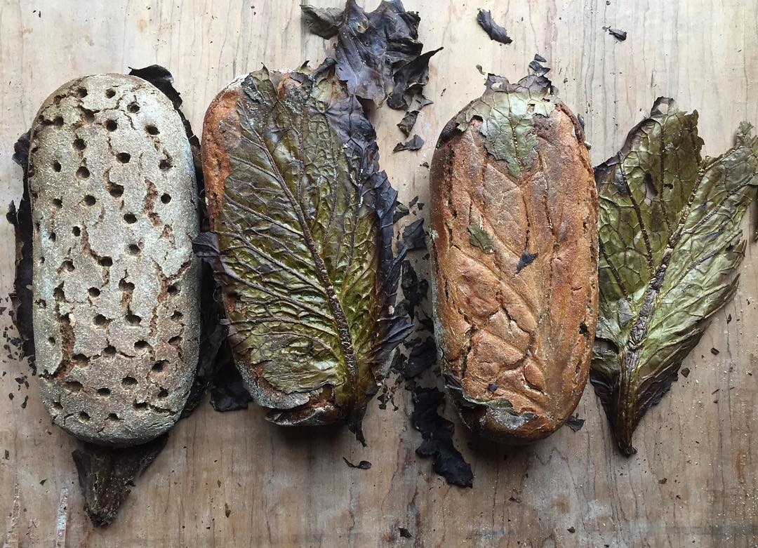Whatcom grown rye and potatoes, water, sea salt, and time. Baked on the battered outer cabbage leaves from our winter garden
