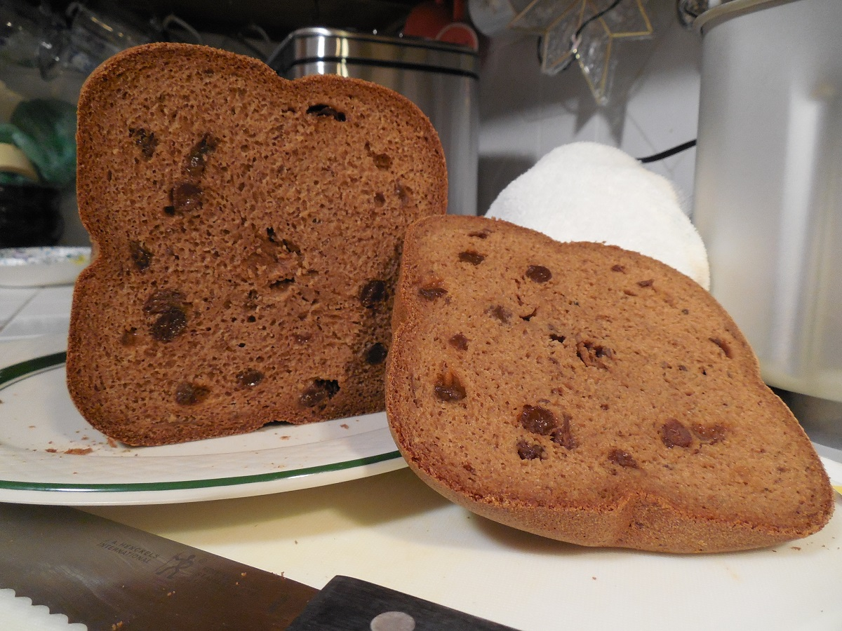 My frist experiment cinnamon raisin bread
