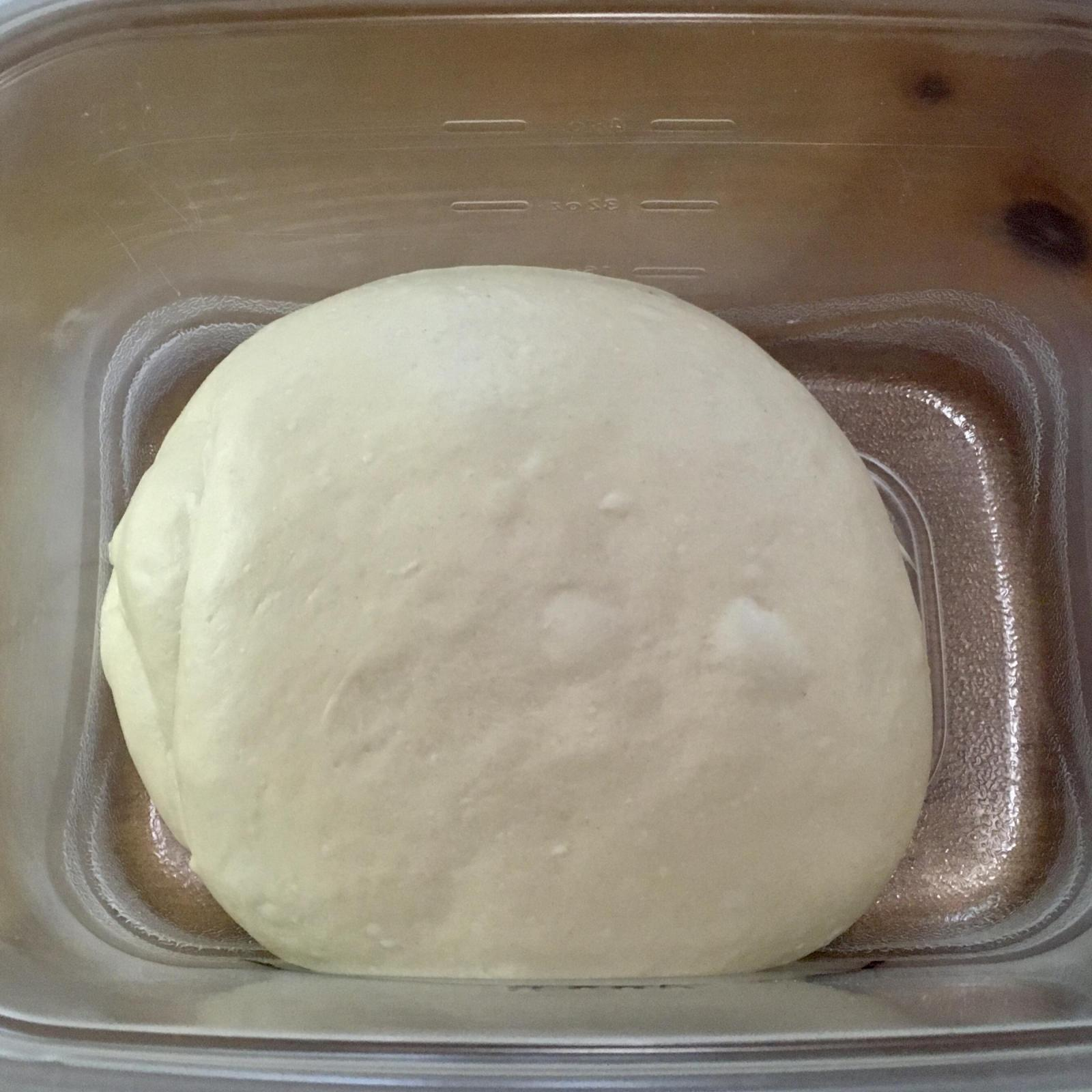 Dough after bulk ferment
