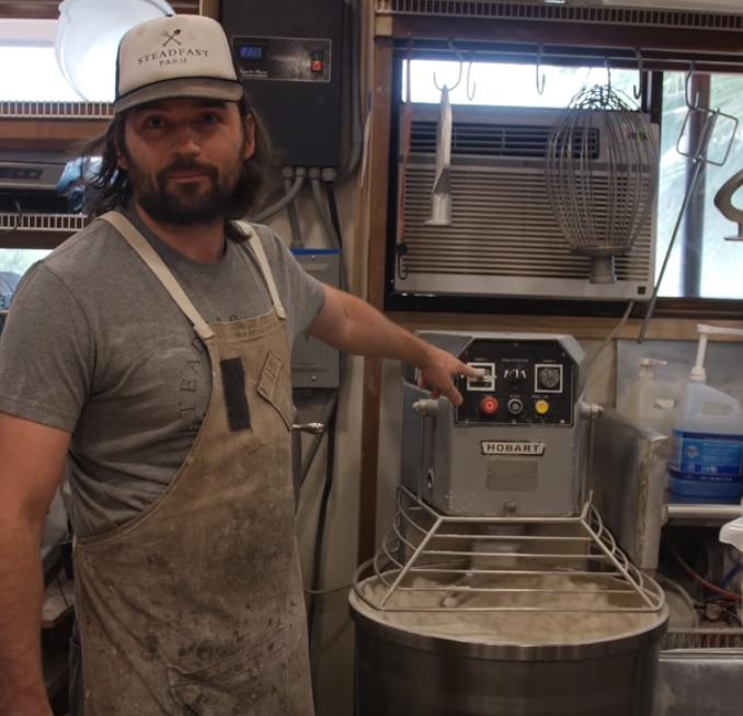 Jon w/ PB's dough mixer.