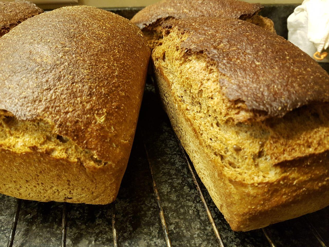 whole wheat rye and linen seeds