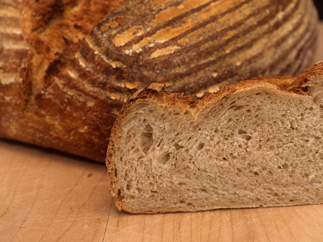 Straight Sourdough Crumb Shot