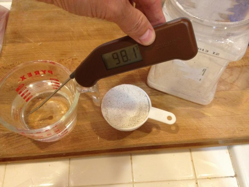 Thermometer in starter