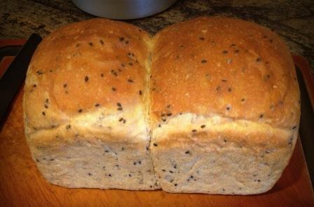 Sesame sandwich loaf