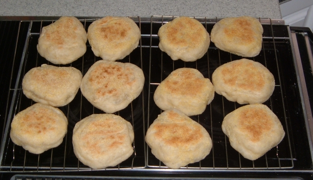 English Muffins, no rings