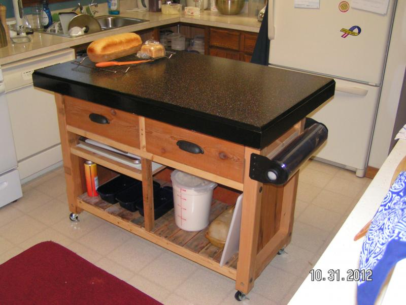 Charmant This Is A Table That I Recently Designed And Constructed. It Measures 36  Inches High Including The Castors, It Is About 5 Feet Long Over All With  The ...