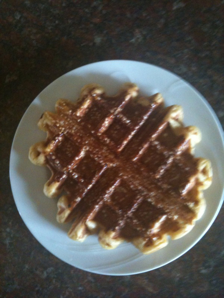 Finished Liege Wafel...Mmmmm