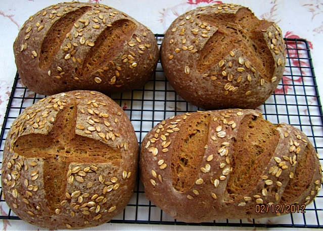 As Pretty As It Gets Whether As Boules Or Batards Here With Rye Flakes As Topping