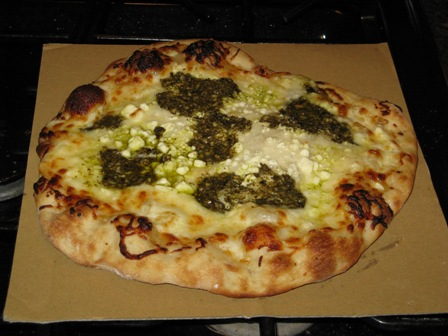Four Cheese Pesto Pizza