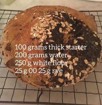 loaf of bread with recipe