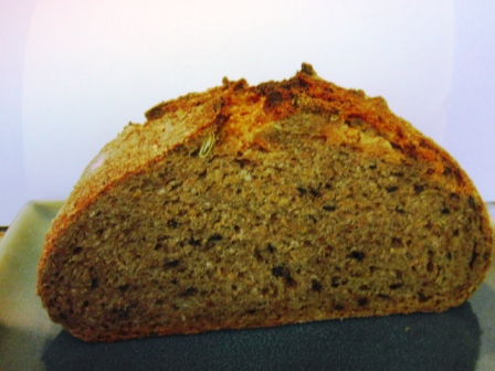 3 Seed rye crumb