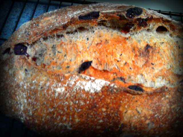 Cherry Lapsang Souchong Sourdough Closeup