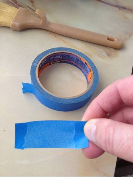 Prepping marking tape
