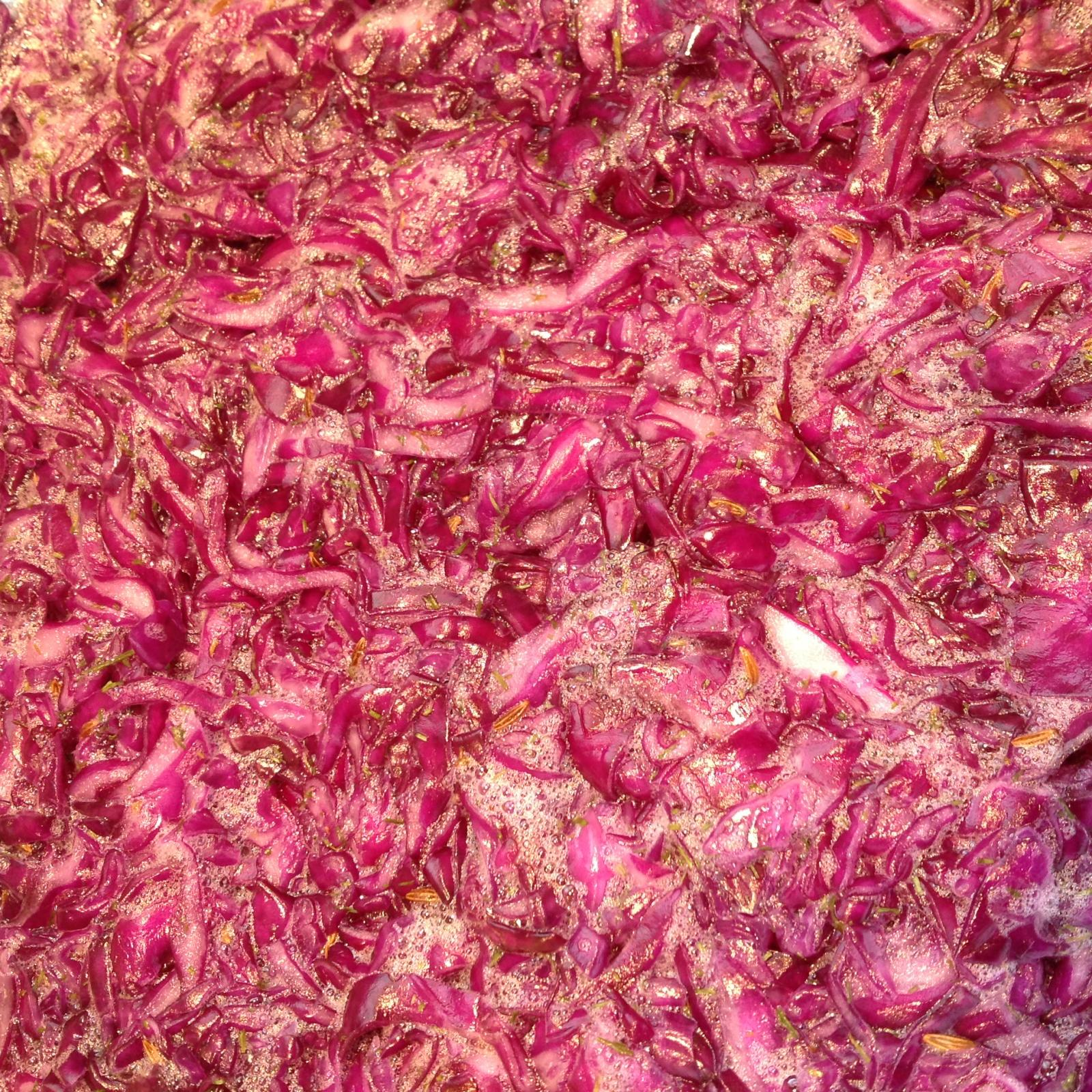 Bubbling red kraut