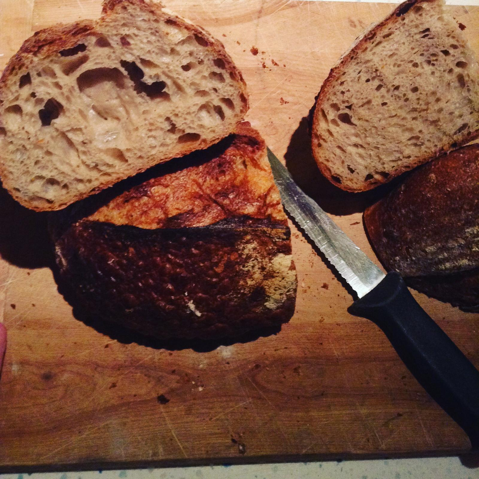 Country Levain and Oat Levain