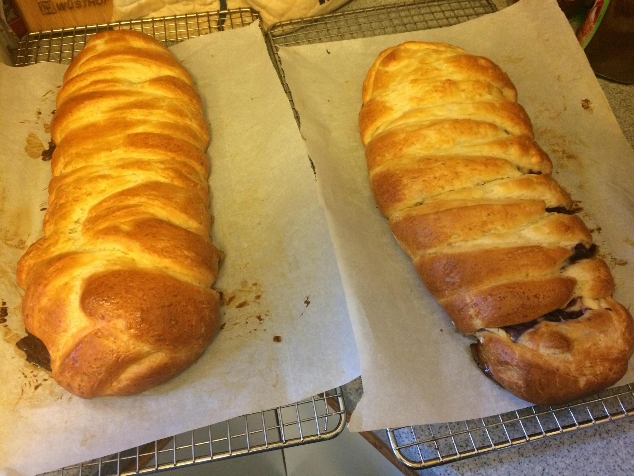 Blueberry cream cheese braids