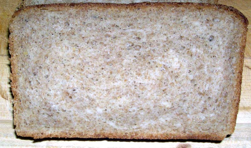 Crumb of Whole Wheat Salt Rising Bread