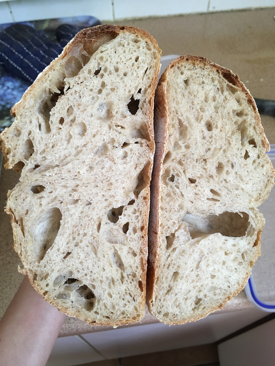 crumb - dough with smaller starter