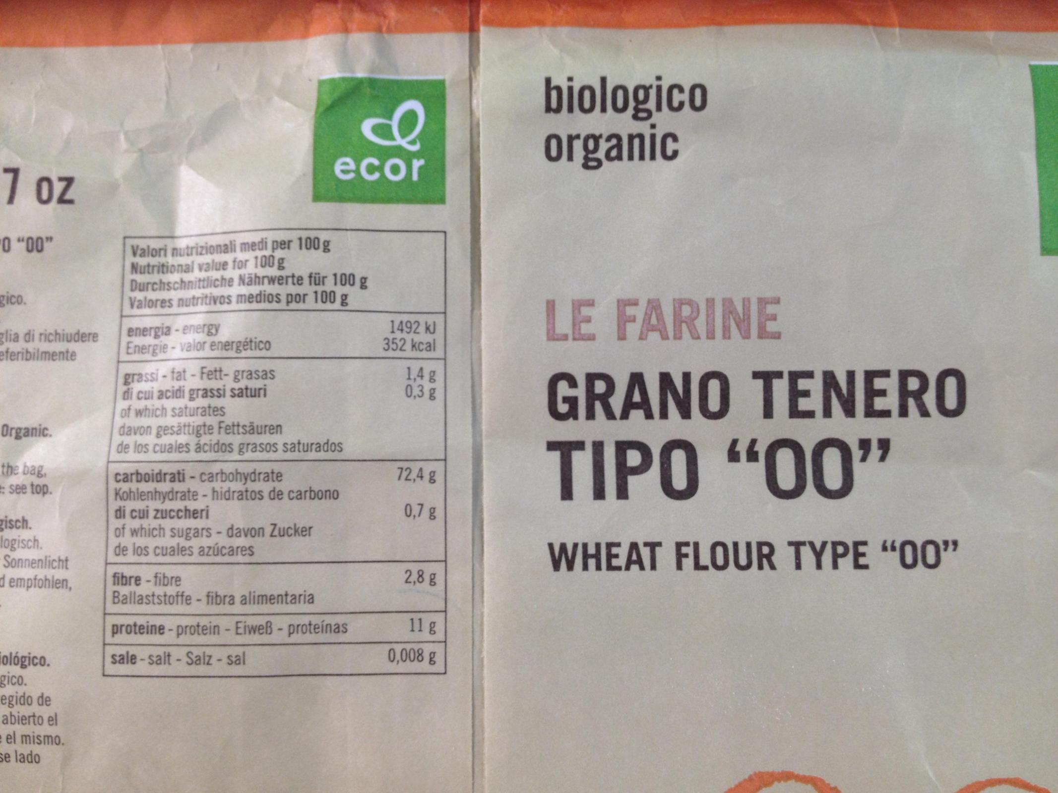 """Italian flour type """"00"""""""