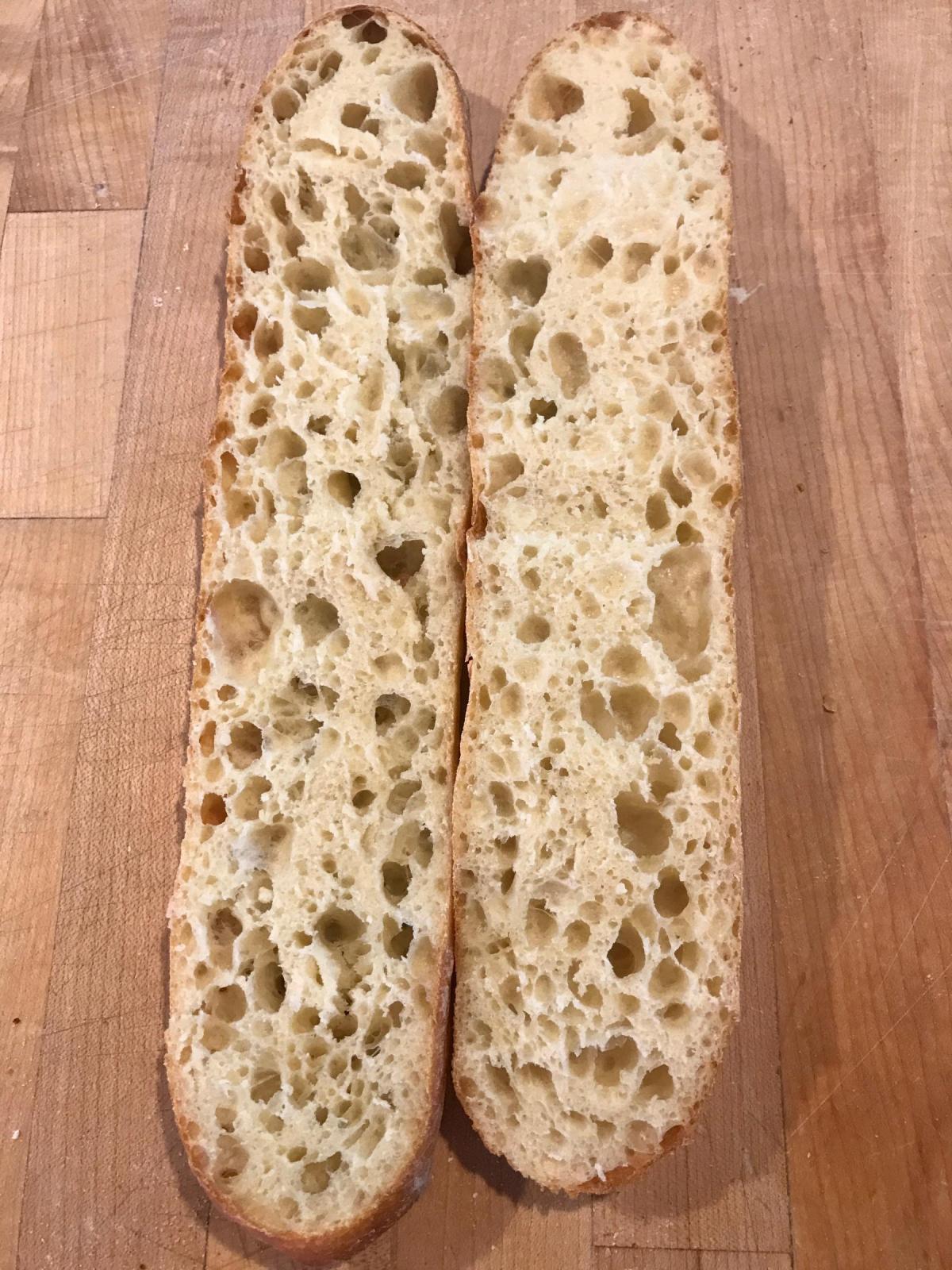 Baguette fava crumb
