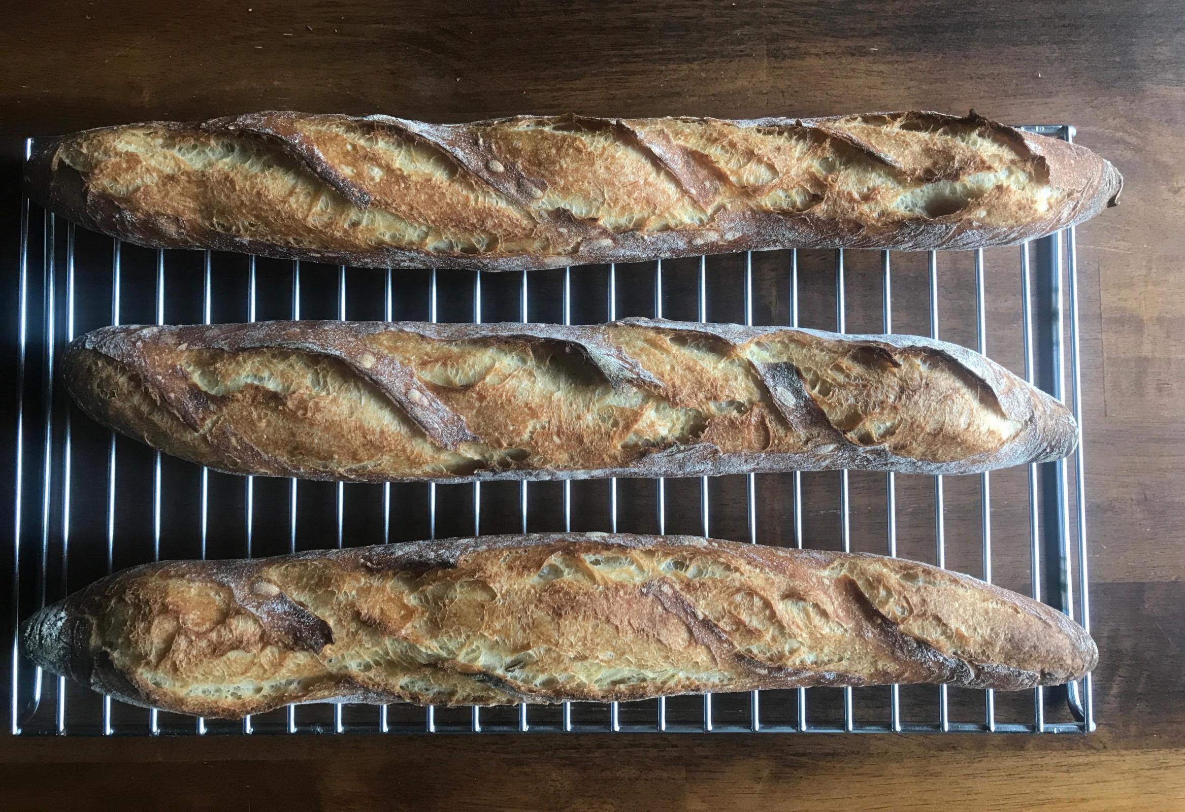 French flour baguettes