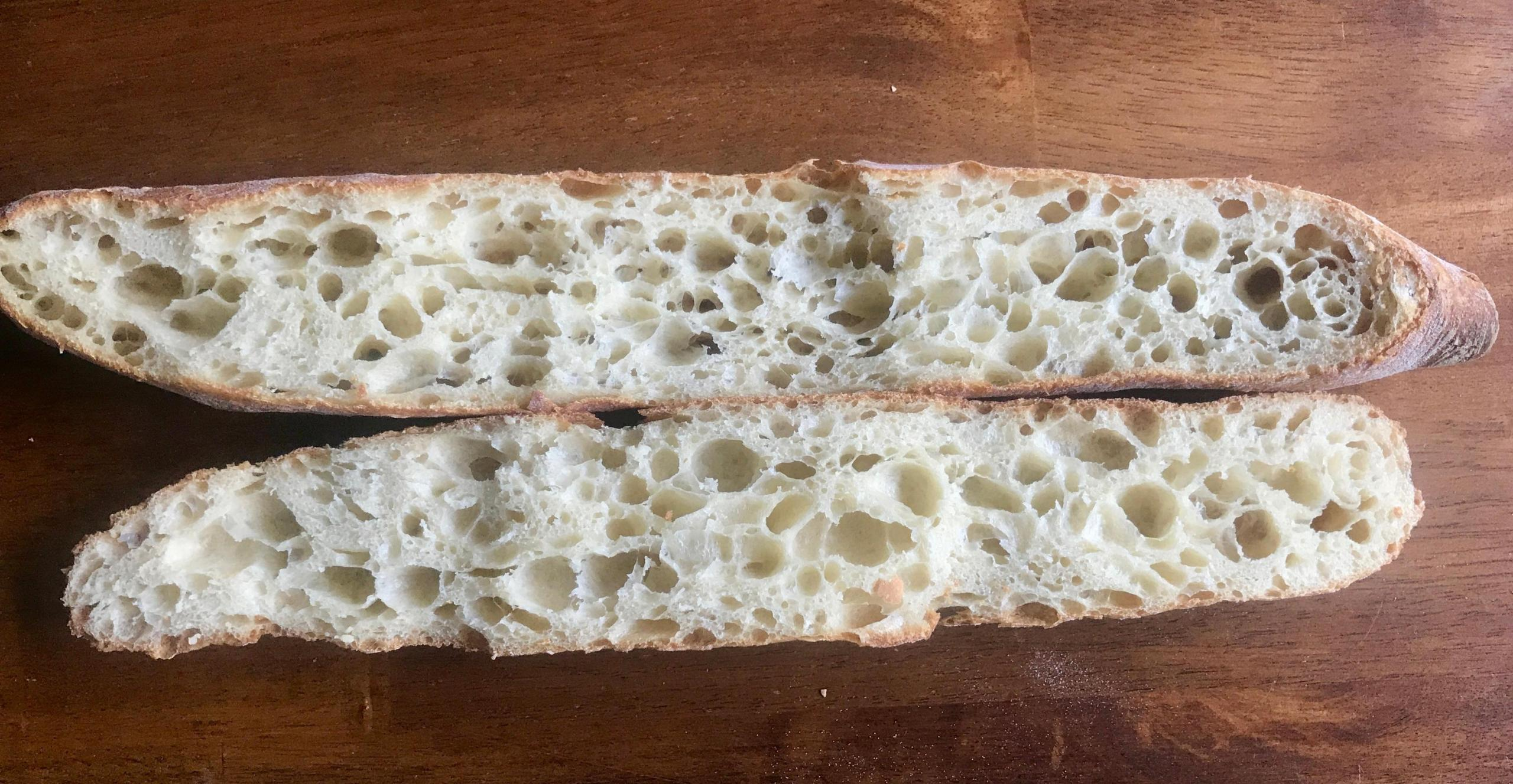 french flour crumb