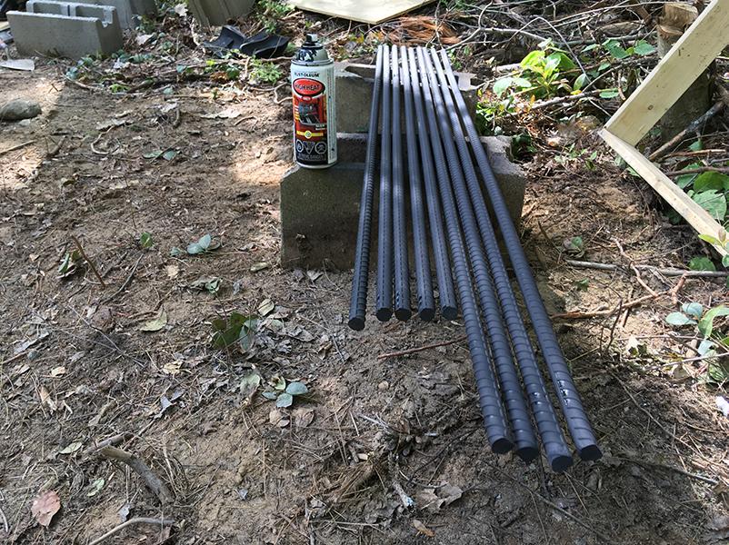 Heat/rust paint for hearth slab rebar