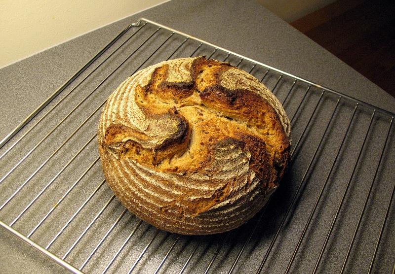 Flax seed rye bread