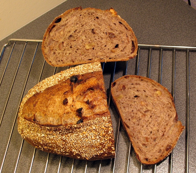 Fruit and nut levain crumb