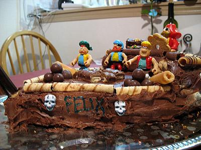 Pirate Ship Birthday Cake The Fresh Loaf