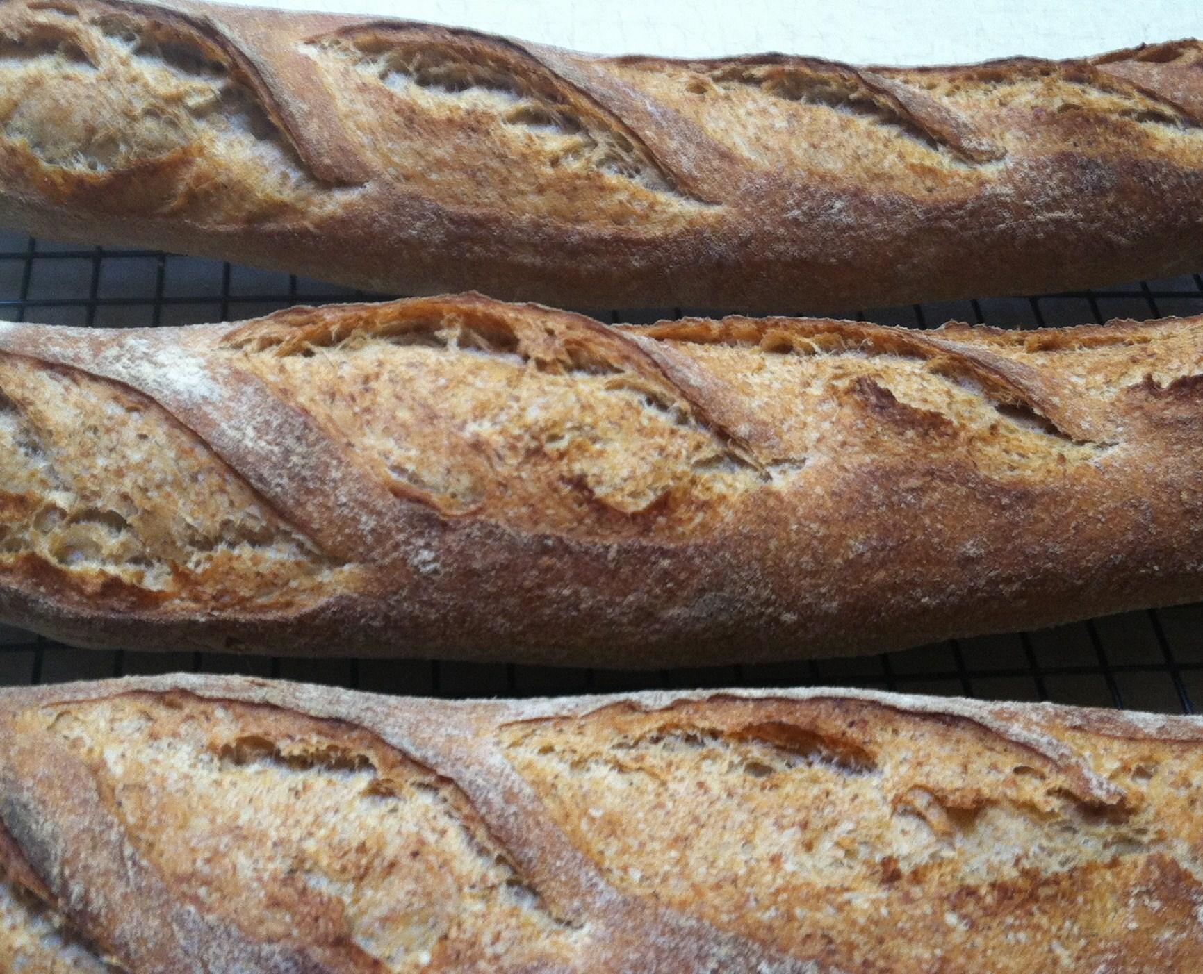 50% Whole Grain Baguettes | The Fresh Loaf