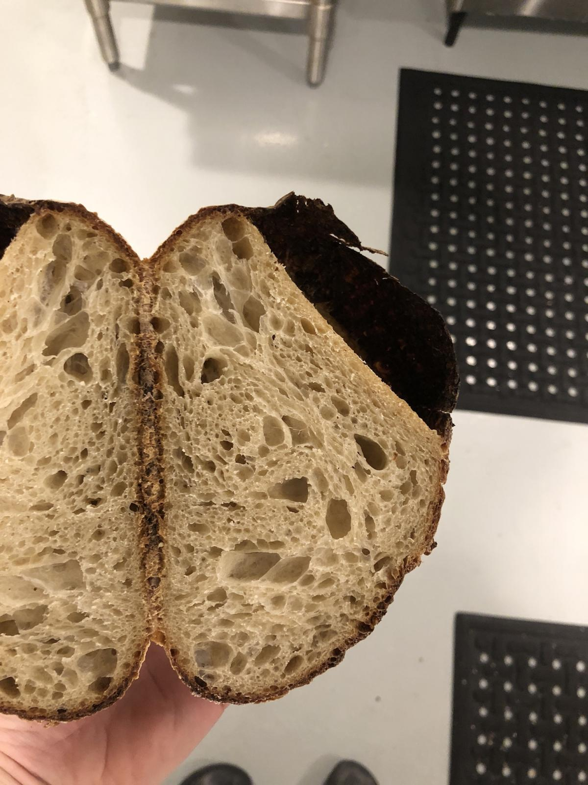 Crater Under Skin On Sourdough The Fresh Loaf