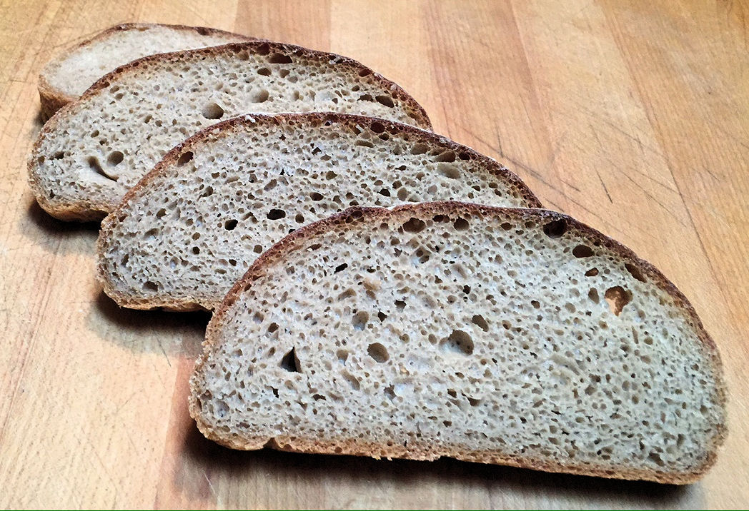 100% White Whole Wheat Bread @ 100% Hydration Or More