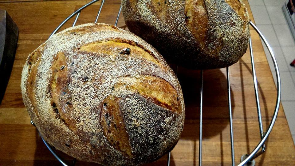 Red Gold Spice Sourdough Bread With Sprouted Wheat And