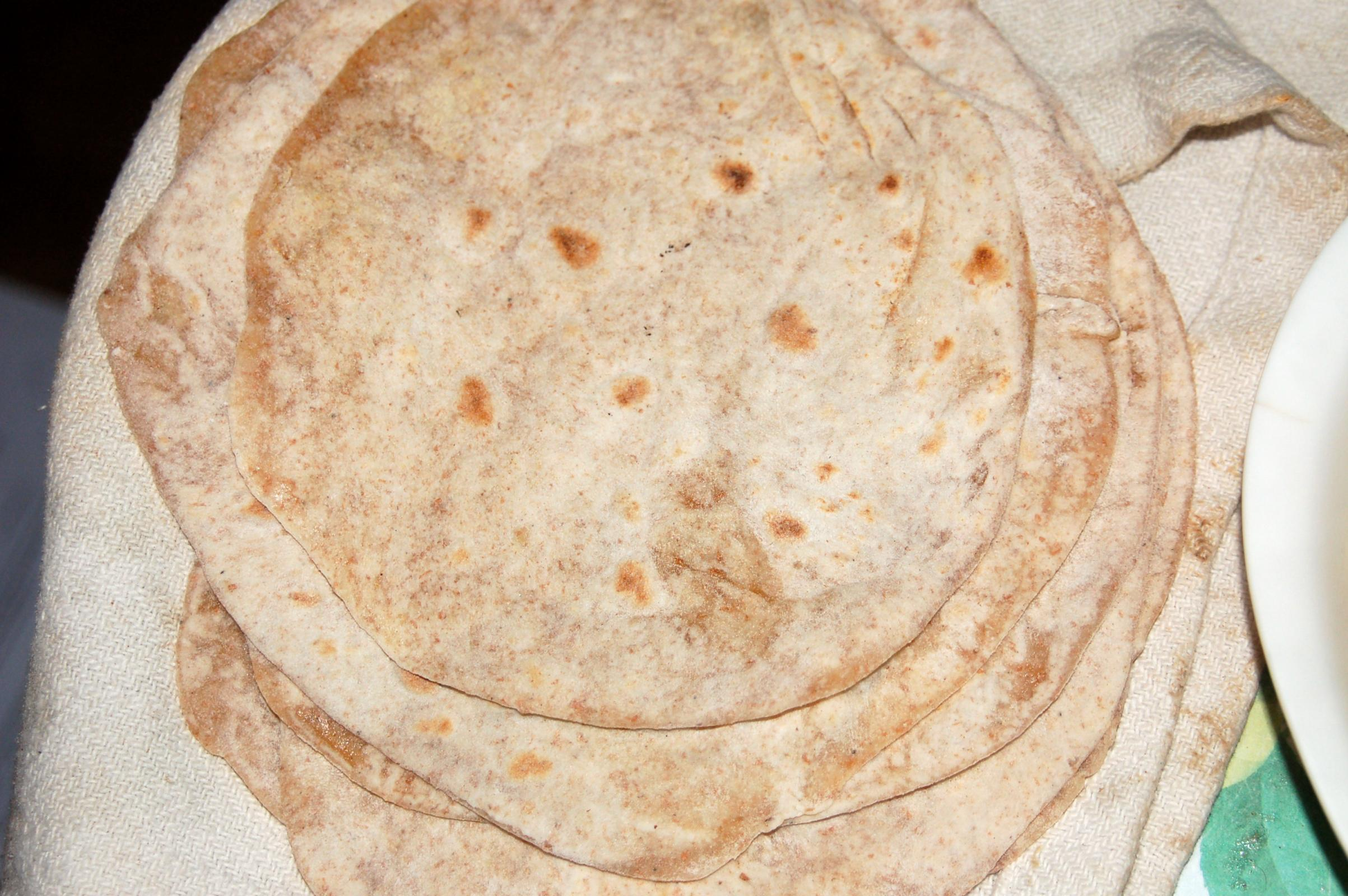 Some Chapati I made using Atta flour cooked on a traditional tawa