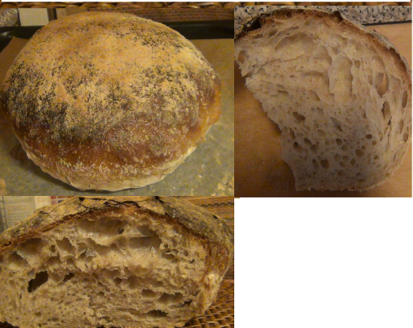 Sourdough Bread With Much Holes Lightweight Class The