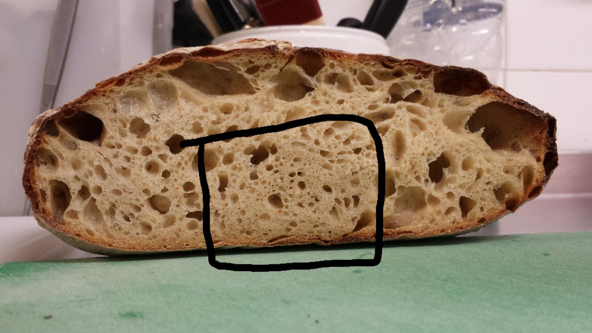 gummy dense centre to sourdough boule the fresh loaf