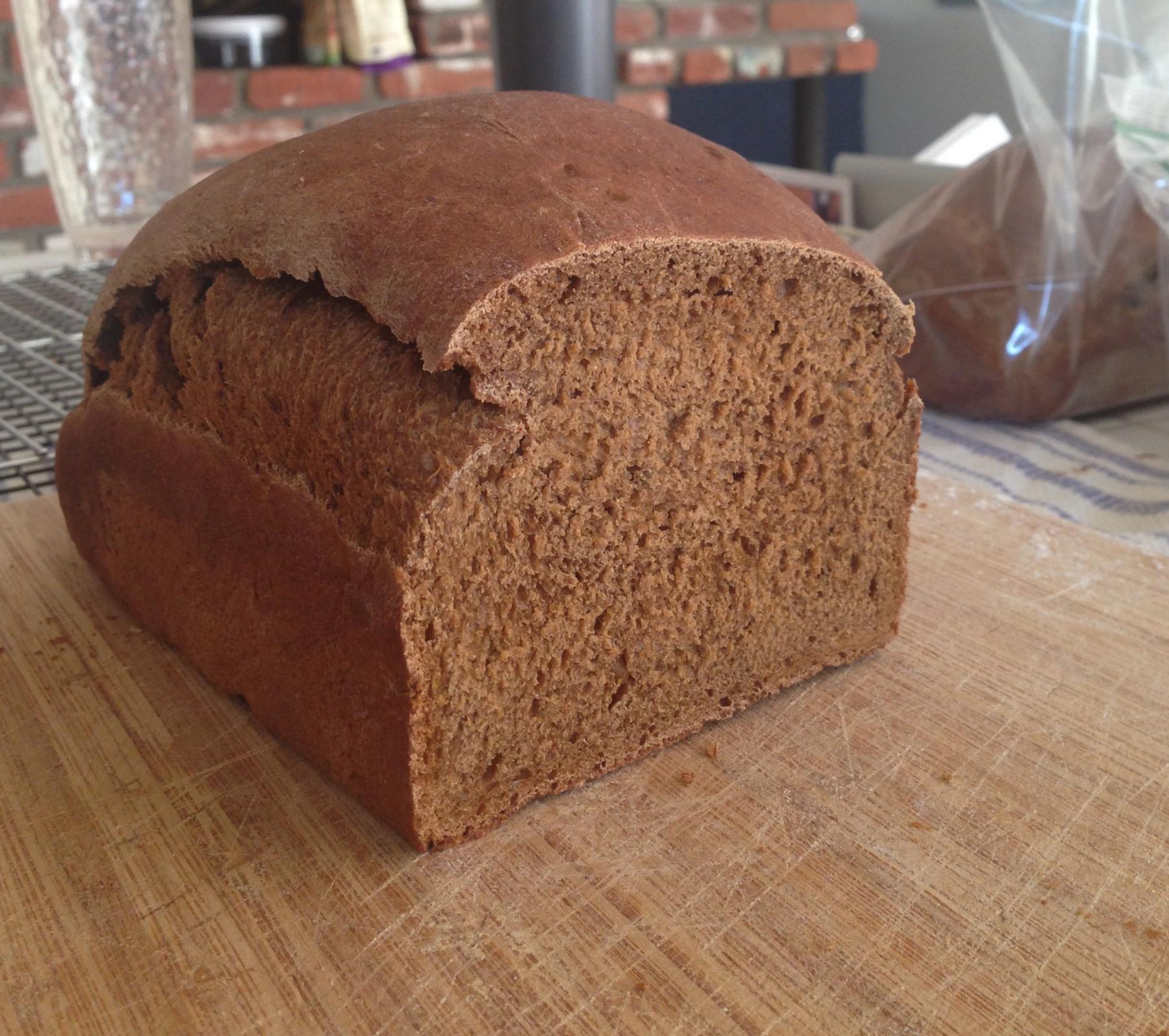 Dark Mildly Sweet Rye Bread Old Recipe The Fresh Loaf