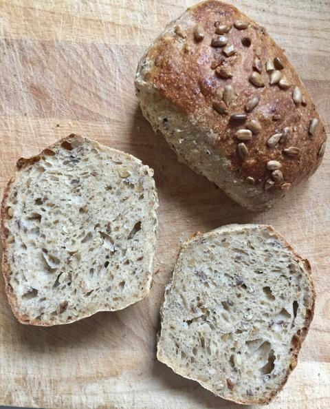 Gaues Bäcker Hamburg sunflower seed squares - hearty sourdough rolls from one of