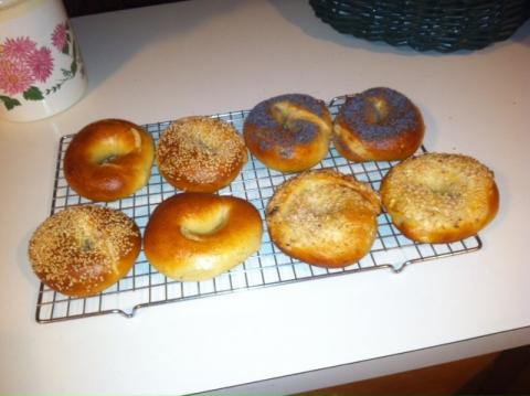 My Bagel Recipe and technique, but, only makes 8 bagels
