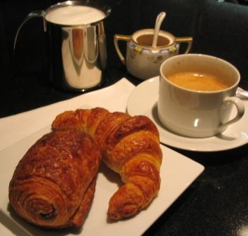 The ultimate Continental Breakfast with Croissant and Pain au Chocolat