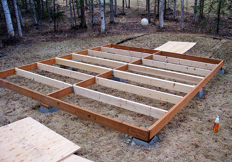 Resca shed floors for Floor joist construction