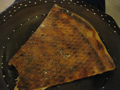 Pizza crust browning