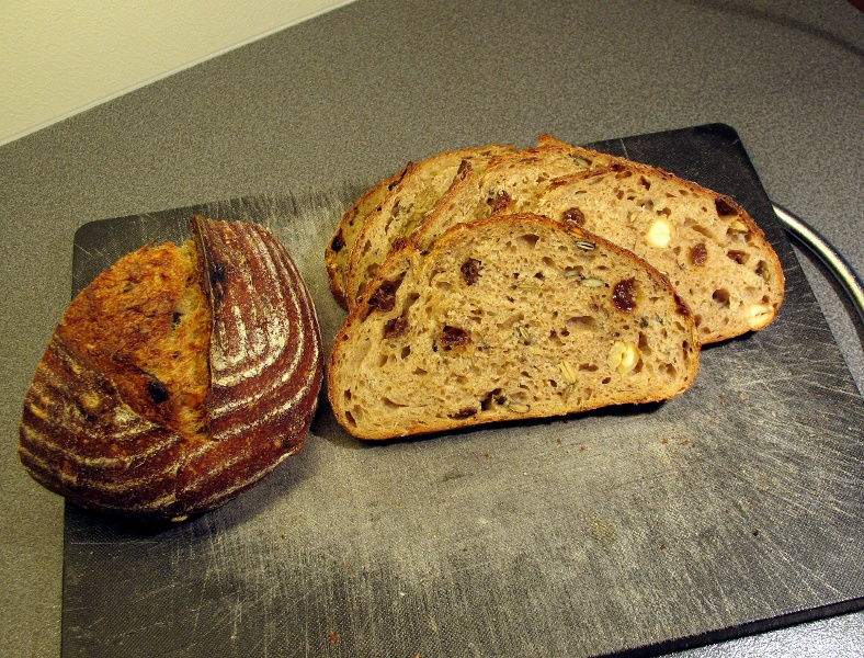 Raisin and nut sourdough