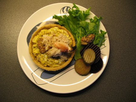 Scrambled eggs and crab croustade