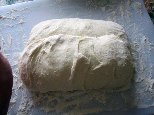 fold the dough