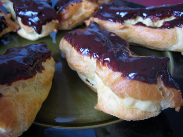 tray of eclairs