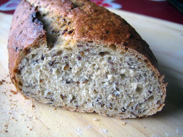 flax seed wheat bread