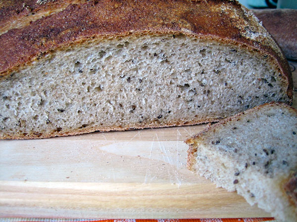 rye bread inside