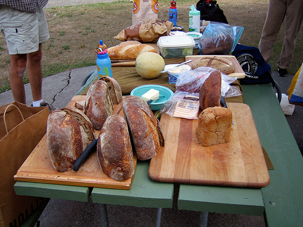 table full on bread
